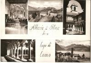 1960 ca COLICO (LC) Vedutine dell'abbazia di PIONA *Cartolina FG NV