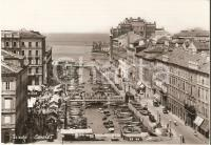 1963 TRIESTE Mercato del Ponterosso sul Canale *Cartolina FG VG