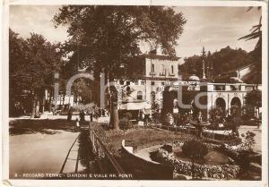 1932 REACOARO TERME (VI) Giardini e Viale delle Regie Fonti *Cartolina FG VG