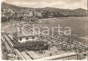 1959 SANREMO (IM) Folla di turisti ai BAGNI ITALIA *Cartolina FG VG