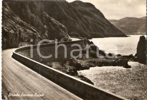1955 LAVENO MOMBELLO (VA) Strada per LUINO *Cartolina FG VG