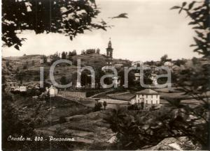 1963 CANALE (CN) Panorama del paese con campanile *Cartolina FG VG
