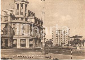 1956 FORLÌ Angolo di Piazza della Vittoria *Cartolina FG VG