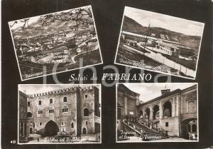 1955 FABRIANO (AN) Vedutine con Cartiere MILIANI *Cartolina FG VG