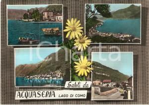 1961 ACQUASERIA (CO) Vedutine con batell su Lago di Como *Cartolina FG VG