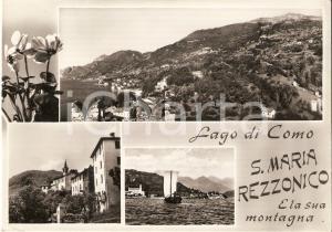 1955 SANTA MARIA REZZONICO (CO) Vedutine con Lago di Como *Cartolina FG VG