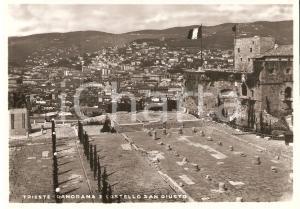 1955 ca TRIESTE Panorama e Castello SAN GIUSTO *Cartolina FG NV