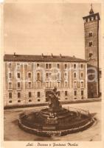 1956 ASTI Piazza e Fontana Medici *Cartolina FG VG