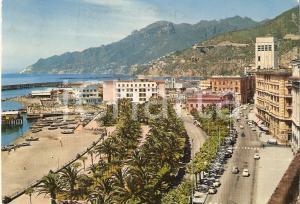 1972 SALERNO Panorama con Lungomare Trieste *Cartolina FG VG