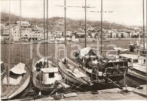 1969 SANREMO (IM) Barche attraccate al porto *Cartolina FG VG