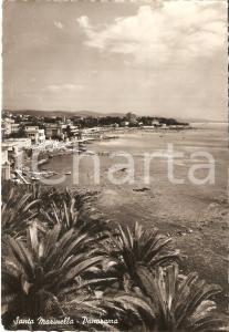 1959 SANTA MARINELLA (RM) Panorama con la spiaggia *Cartolina FG VG