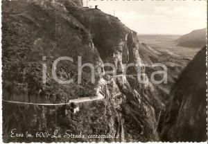 1955 ca ERVE (LC) Panorama con strada carrozzabile *Cartolina FG VG