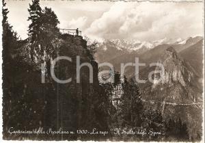 1960 ca CANTONIERA DELLA PRESOLANA (BG) Rupe Salto degli sposi *Cartolina FG VG