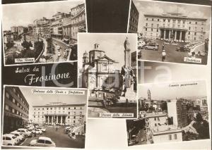 1965 FROSINONE Vedutine con Prefettura e Palazzo delle Poste *Cartolina FG VG