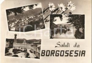 1955 va BORGOSESIA (VC) Vedutine della città *Cartolina FG VG