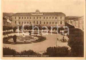 1940 ca CAMPOBASSO Piazza Vittorio Emanuele II e Municipio *Cartolina FG VG