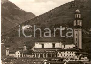 1965 CLUSONE (BG) Panorama con Chiesa arcipretale *Cartolina FG VG