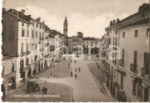 1943 SAVIGLIANO (CN) Veduta di Piazza Santarosa *Cartolina FG VG
