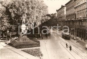 1950 ca TRIESTE Monumento a Domenico ROSSETTI DE SCANDER *Cartolina FG VG