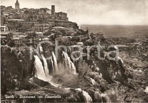 1955 TIVOLI (RM) Panorama con cascatelle *Cartolina FG VG
