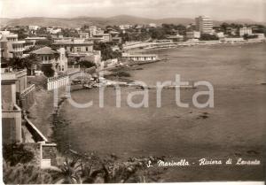 1950 ca SANTA MARINELLA (RM) Panorama Riviera di Levante *Cartolina FG VG