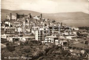 1958 BRACCIANO (RM) Panorama del paese *Cartolina FG VG