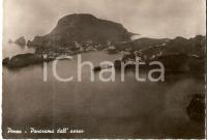1958 ISOLA DI PONZA (LT) Panorama dall'aereo *Cartolina FG VG