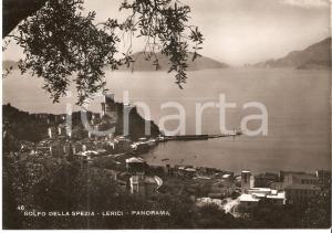 1951 LERICI Panorama con Golfo di LA SPEZIA *Cartolina FG VG
