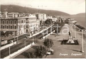 1962 LAVAGNA (GE) Carretto dei gelati su Lungomare *Cartolina FG VG