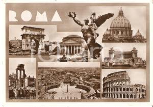 1933 ROMA Vedutine con Pantheon COLOSSEO Arco di Tito *Cartolina FG VG