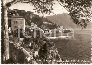1955 ca AMALFI (NA) Panorama con Hotel Santa Caterina *Cartolina FG VG