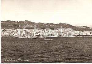 1957 CARLOFORTE (CI) Panorama con barche al largo *Cartolina FG VG