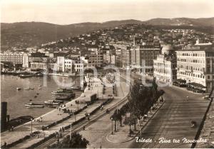 1955 TRIESTE Grande Albergo della Città in Riva Tre Novembre *Cartolina FG VG