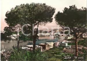 1955 ISOLA D'ISCHIA (NA) Panorama con il porto *Cartolina FG VG