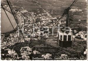 1956 CASTELLAMMARE DI STABIA (NA) Funivia del Monte Faito *Cartolina FG VG