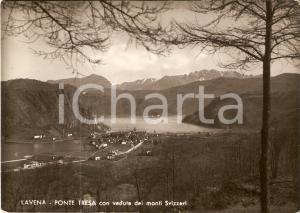 1950 LAVENA PONTE TRESA (VA) Veduta dei monti svizzeri *Cartolina FG VG