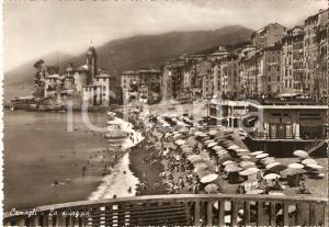 1955 ca CAMOGLI (GE) Panorama della spiaggia *Cartolina FG NV