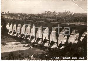 1951 FOSSANO (CN) Viadotto sulla STURA *Cartolina FG VG