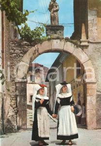 1965 ca PETTORANO SUL GIZIO (AQ) Costumi tipici abruzzesi *Cartolina FG NV
