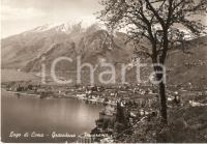 1953 GRAVEDONA Panorama con il Lago di Como *Cartolina FG VG