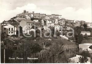 1960 ROCCA PRIORA (RM) Panorama del paese - Castelli romani *Cartolina FG VG