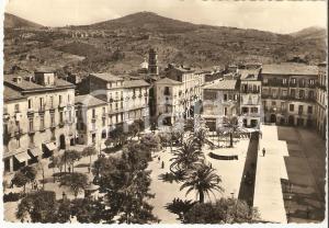 1953 VALLO DELLA LUCANIA (SA) Piazza Vittorio Emanuele *Cartolina FG VG