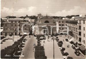 1957 ANZIO (RM) Panorama con Piazza Pia *Cartolina FG VG