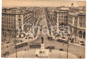 1950 ca ROMA Piazzale di Porta Pia e via Nomentana Insegna PIRELLI *Cartolina FG