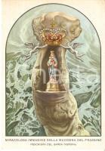 1960 ca PESCHIERA DEL GARDA Madonna del Frassino *Cartolina ILLUSTRATA FG NV