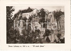1952 CHIUSI DELLA VERNA (AR) Crudo sasso - Santuario della Verna Cartolina FG VG