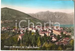 1963 LAINO (CO) Panorama con Lago di Lugano *Cartolina FG VG