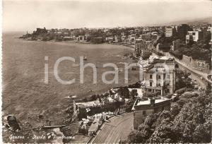 1955 ca GENOVA Panorama del quartiere STURLA *Cartolina FG NV