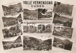 1956 VALLE VERMENAGNA (CN) Vedutine con Limone Piemonte ROBILANTE *Cartolina FG