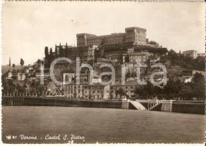1941 VERONA Panorama con Castel San Pietro *Cartolina FG NV